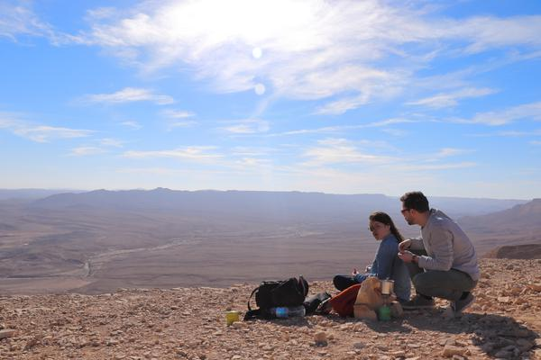 Coffee Break at Ramon Crater